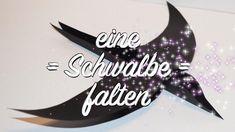 Vogel / Schwalbe Falten - mit Bastel-Vorlage als Download