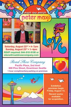 @OTLSeattle  @Peter_Max  coming to Seattle