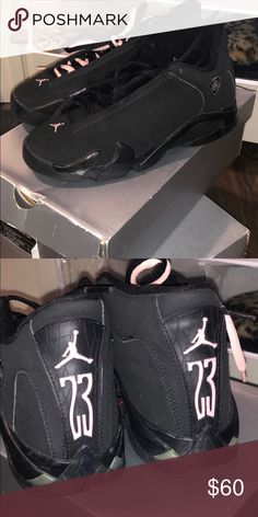 pretty nice 2c922 a3ae4 Jordan 14 Black and pink Jordan 14 Jordan Shoes Sneakers