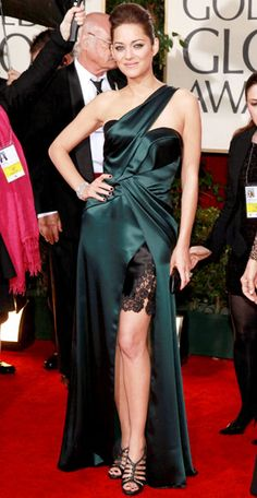 Our Favorite Golden Globes Gowns of All Time - Marion Cotillard, 2010 from #InStyle