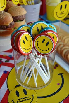 Smiley Face Chocolate Lollipops