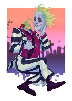 Tim Burton Characters, Anime Characters, Horror Art, Horror Movies, Beetlejuice Cartoon, Beetle Juice, Cartoon Shows, Illustrations And Posters, Cute Drawings