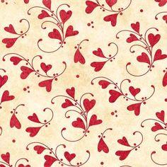 Henry Glass Heart Strings by Marie Cole 6131 8 Swirly Hearts $9.60/yd