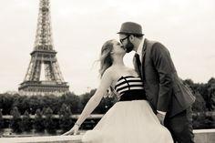Lauren and Brett Vintage themed Paris Wedding.    Hair and Makeup : Lexi DeRock  Photographery : Julian Berry