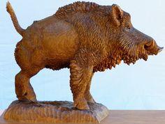 sculpture  boar - Sculpture,  35.5x44 cm ©2010 by David -            scuipture boar