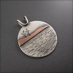 Presque Isle Shoreline Pendant by Beth Millner Jewelry