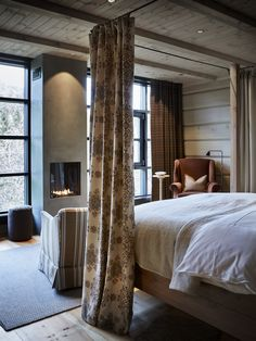 〚 Wonderful Storfjord hotel with traditional Norwegian cottages near the fjord 〛 ◾ Photos ◾Ideas◾ Design Log Home Interiors, Cottage Interiors, Rustic Interiors, Chalet Interior, Interior Design, Norwegian House, Log Home Decorating, Decorating Tips, Spa Hotel