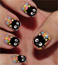 Awesome kitty nails