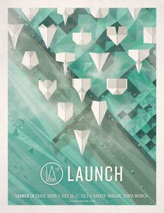 Illustration / Launch LA Poster — Designspiration