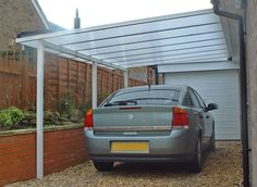 brillant carport idea, lets light in, protect from elements.