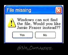 *Missing File Error* #JamieFraser #OutlanderSeries yes !!! pic.twitter.com/yPym4Qrkvm