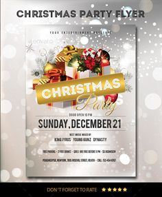 Christmas Party Flyer Template PSD #design #xmas Download: http://graphicriver.net/item/christmas-party-flyer/9603172?ref=ksioks