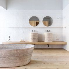 Taking cues from the Santa Clara 1728 Hotel in Portugal for an upcoming project. Isn't this space dreamy? Diy Bathroom Decor, Bathroom Styling, Bathroom Interior, Bathroom Ideas, Decor Interior Design, Interior Decorating, Mini Bad, Décor Boho, Dyi