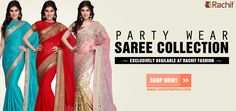 Heading to the parties with your #sweetheart? Try one of these outfits that we have rounded up especially for you ---> http://www.rachitfashion.com/party-wear-sarees  #partywear #outfit #shoponline