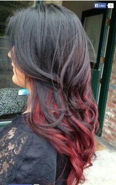 Dark and auburn ombre