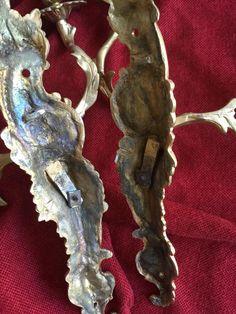 Paire d'Appliques en bronze doréAu C Couronné époque Louis X, BLB Antiquités, Proantic