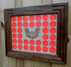 Poker Chip Display Frame fits 36 Harley-Davidson by CarvedByHeart