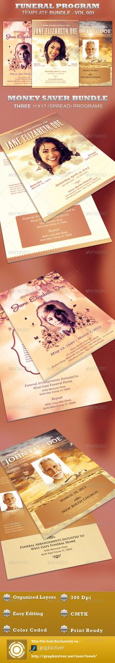 In Remembrance Funeral Program Template Funeral and Filing - event program template