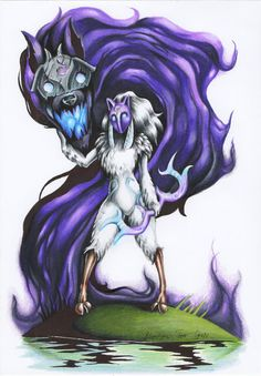 This time we created something inspired by League of Legends. Hope you like the colours we choose. Kindred from League of Legends was really nice champion to draw, for sure he looks really cu...