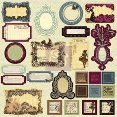 Chipboard Journaling Stickers - Prima Moulin Rouge Collection