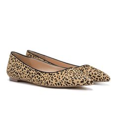 Look at this Tan Leopard Tenacious Calf-Hair Flat on #zulily today!