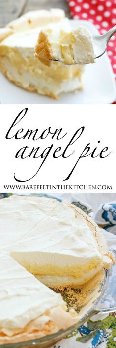 Lemon Angel Pie - the fluffiest creamiest dreamiest pie you'll ever make!