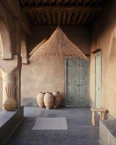Exterior Design, Home Interior Design, Interior Architecture, Interior And Exterior, Interior Decorating, Paper Architecture, Minimalist Architecture, Moroccan Garden, Mud House