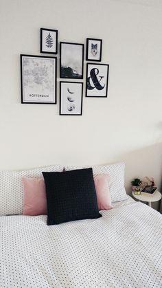 bedroom #interior #inspiration #roomspiration #scandinavian #studentroom #room #bedroom #posters #prints #design #desenio #clean #dorm