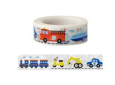 Kids Train washi tape series-Deco tape No.4  by alicemolds on Etsy