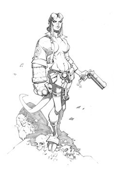 Hellgirl by *RandyGreen on deviantART