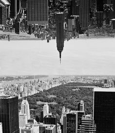 New York upside down facing