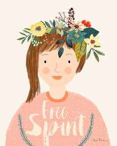 Mia Charro is an illustrator whose love of nature is apparent through her bright work. She also enjoys fairy tales and magic, and I'd reckon animals, too.