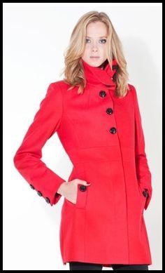 Manteau rouge Stradivarius