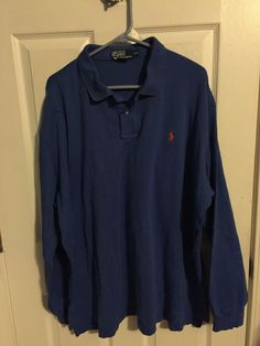 Polo Ralph Lauren XXL Shirt Long Sleeve Blue Easter #PoloRalphLauren