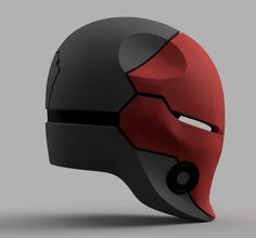 print model Red Hood Cyborg Ninja Helmet batman , available in STL, PDF, ready for animation and other projects Helmet Design, Mask Design, Red Hood Helmet, 3d Printed Mask, Armadura Cosplay, 3d Printing Service, White Gel Pen, Armor Concept, 3d Drawings