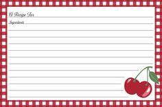 Kitchen Cherry Recipe Cards • Jessie Steele