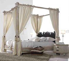 Bambus-Himmelbett CABANA. Ihr Online-Shop für elegante Holzbetten im Afrika-Stil.
