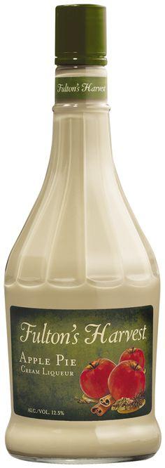 Fulton's Harvest Apple Pie Cream Liqueur. Apple pie in a glass. Cream Liqueur, Apple Harvest, Fulton, Apple Pie, Flannel, Drinking, Bottle, Friends, Fall