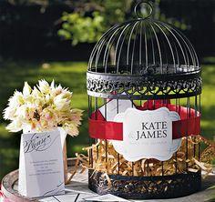 Black Birdcage Wedding Card Holder | Birdcage Card Holder | Bird Cage Card Holder