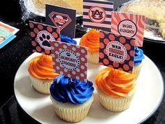 Auburn cupcakes for an Auburn Baby Shower!!