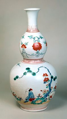 """Bottle with enamel colours, Japan"" Arita kiln porcelain. Arita ware was made around Arita-cho,    in Saga Prefecture, Japan 