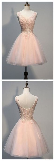 Pink Homecoming Dresses,Short Open Back Homecoming Dress with