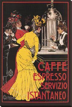 Caffe Espresso Stretched Canvas Print by Ceccanti at AllPosters.com