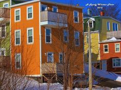 The colours of downtown St. John's never disappoint! Randy Whitten took this photo on Holloway Street. (Submitted by Randy Whitten) Atlantic Canada, Newfoundland And Labrador, Prince Edward Island, New Brunswick, The Province, St John's, Nova Scotia, House Colors, The Incredibles