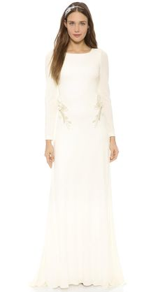 Pin for Later: The Ultimate Guide to Winter Wedding Dresses  Badgley Mischka Open Back Jersey Gown ($695)
