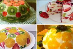 Screenshot_2 Fruit Recipes, Dessert Recipes, Cooking Recipes, Delicious Desserts, Yummy Food, Tasty, Elegant Desserts, Different Cakes, Sweet Pastries