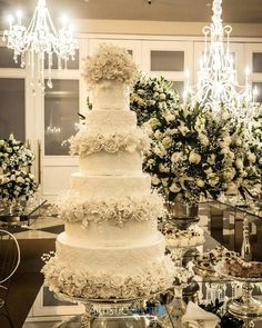 Top 13 Most Beautiful Huge Wedding Cakes   Wedding Theme   White     125 Likes  5 Comments   Pour Le Mon Bolos Cenogr    ficos   pourlemon  on  Wedding  cake