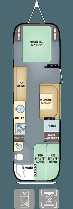 Floor Plans - Flying Cloud 30FB Bunk