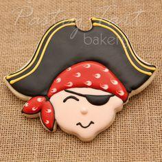 Pirate Boy Cookie Favors  1 doz  Boy Birthday by PastryTartBakery, $42.50