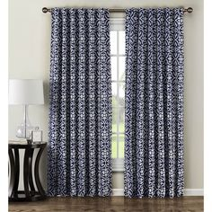 Window Elements Allure Printed Blend 84-inch Rod Pocket Curtain Panel Pair -